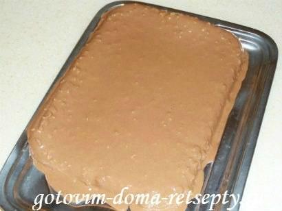 шоколадный торт из печенья и желе 13