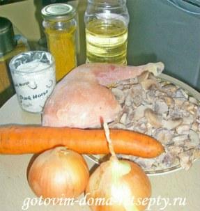 блинчики с грибной и куриной начинкой 2