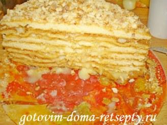 торт медовик с заварным кремом 12