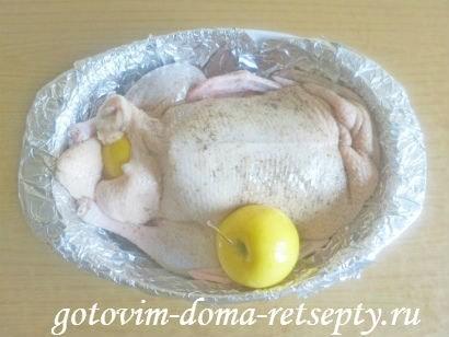 утка запеченная в духовке, рецепт с яблоками 7