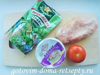 курица тушеная с помидорами в сметане 1