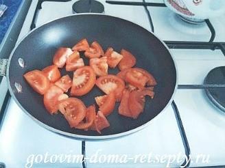 курица тушеная с помидорами в сметане 4