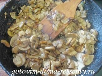 заливной пирог с грибами в духовке 9