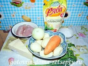 картошка по-французски в духовке, рецепт с курицей 1