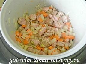 мясо тушеное с овощами в мультиварке 10
