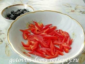 Греческий салат с брынзой, рецепт 2