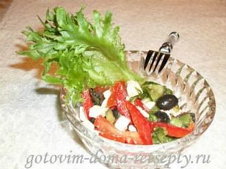 Греческий салат с брынзой, рецепт