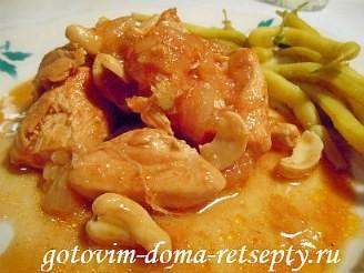 куриное филе с орехами на сковороде 16