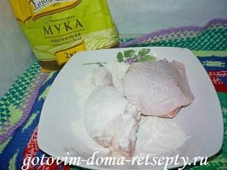 курица жареная в панировке фаршированная чесноком 3