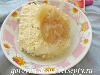 пирог с творогом и фруктами 7