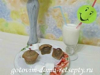 шоколадные маффины с жидкой начинкой 12