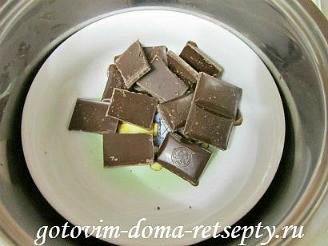шоколадные маффины с жидкой начинкой 2