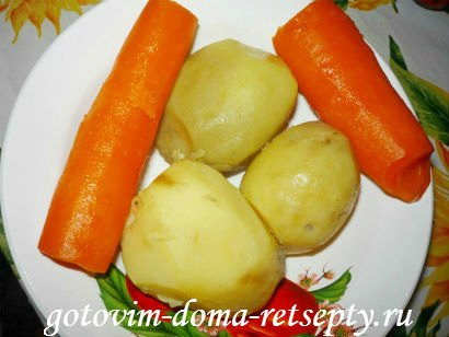 слоеный салат с грибами и картофелем деревенский 5