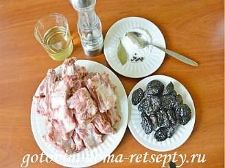 свиные ребрышки с черносливом 1