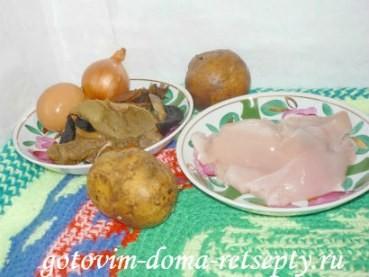 куриные котлеты с грибами и домашними чипсами, рецепт с фото 1