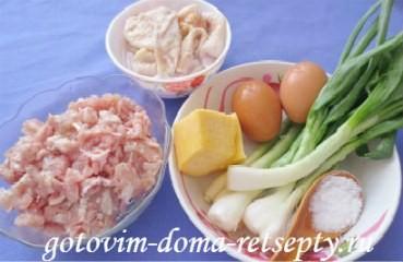 рецепт куриного мяса с омлетной прослойкой или ленивый рулет 1