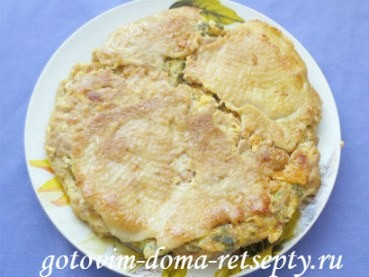 рецепт куриного мяса с омлетной прослойкой или ленивый рулет 13