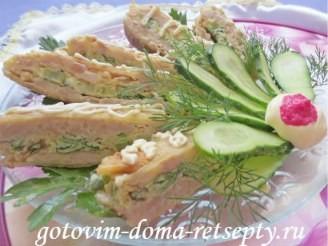 рецепт куриного мяса с омлетной прослойкой или ленивый рулет 15