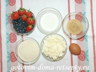 творожный пирог с ягодами, рецепт с фото 1
