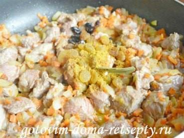 плов из говядины с изюмом и барбарисом, рецепт с фото 8