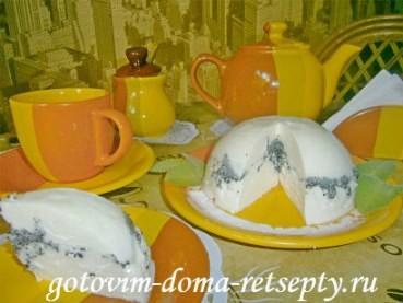 творожный десерт с желатином и маком 19