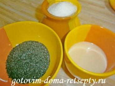 творожный десерт с желатином и маком 3