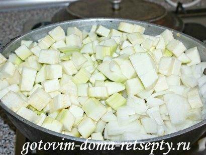 белое рагу из кабачков, курицы и картофеля 7
