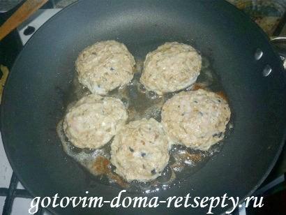 ленивые куриные зразы с сушеными грибами 10