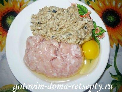 ленивые куриные зразы с сушеными грибами 8