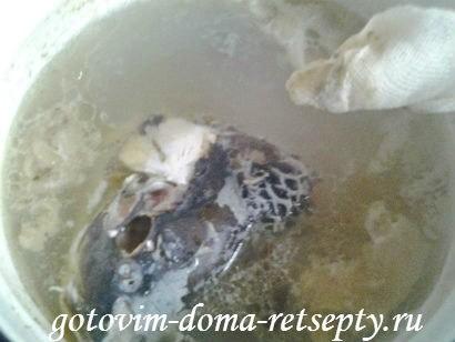 рыбный суп, рецепт из красной и белой рыбы 6