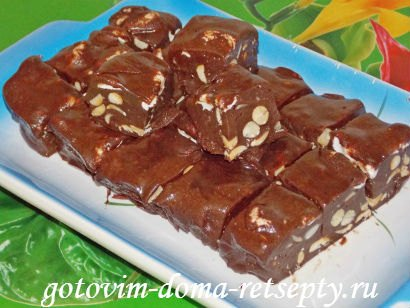 шоколадная помадка из какао с орехами