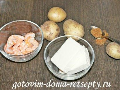 сырный суп с креветками 1