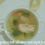 рыбный суп, рецепт из красной и белой рыбы