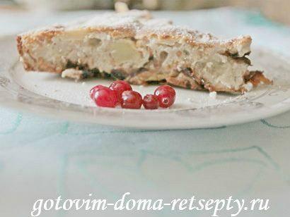 шарлотка с яблоками черносливом и арахисом 11
