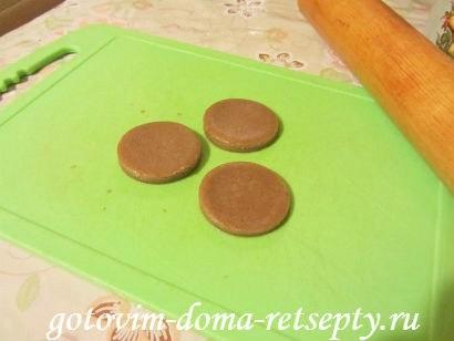 шоколадное печенье пуговки 13