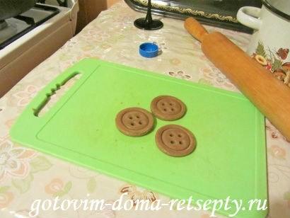 шоколадное печенье пуговки 15