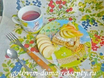тертый пирог из песочного теста в мультиварке с яблочным пюре 12