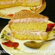 торт с бананами на сметанном креме