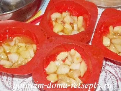 кексы с яблоками 10