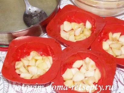кексы с яблоками 9