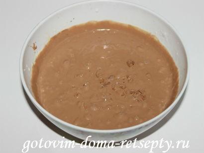 творожный пирог с шоколадным печеньем и шоколадом 9