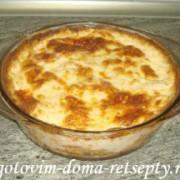 картофельная запеканка с сыром и колбасой