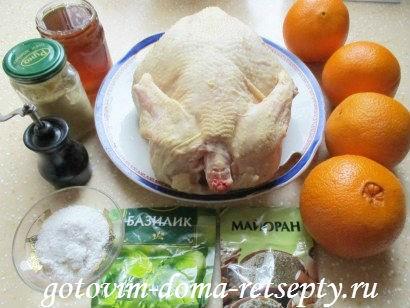 курица в горчично - медовом соусе с апельсинами 1