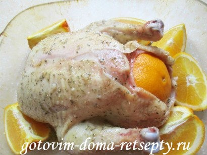 курица в горчично - медовом соусе с апельсинами 12