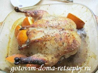 курица в горчично - медовом соусе с апельсинами 13