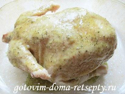 курица в горчично - медовом соусе с апельсинами 7