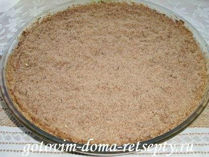торфяной пирог с творогом и орехами 12