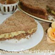 торфяной пирог с творогом и орехами 15