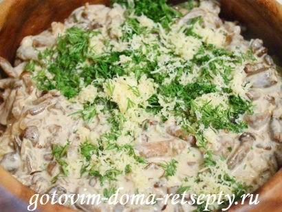 теплый салат с грибами картофелем 11