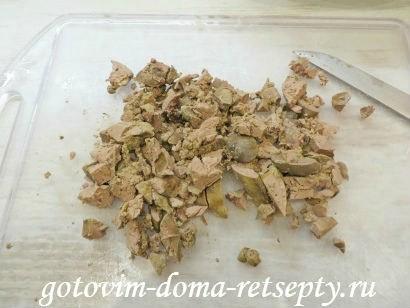 куриные потроха - сердечки желудки и печень в горшочках 6